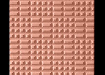 4718R Punta diamante rojo 40x40