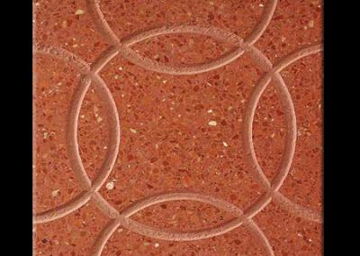 4714R Circulos rojo pulido 40x40